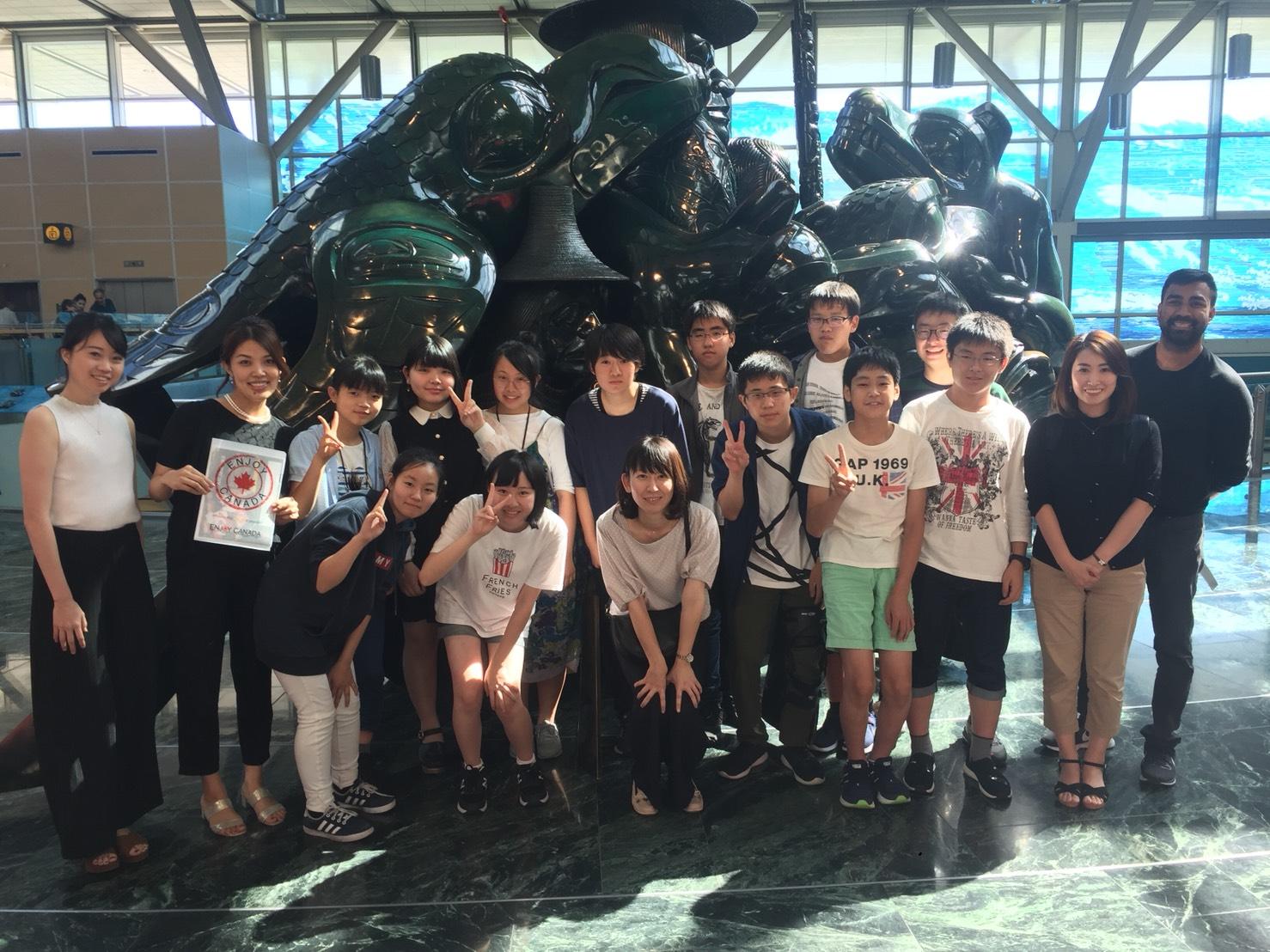 中3語学研修カナダへ出発