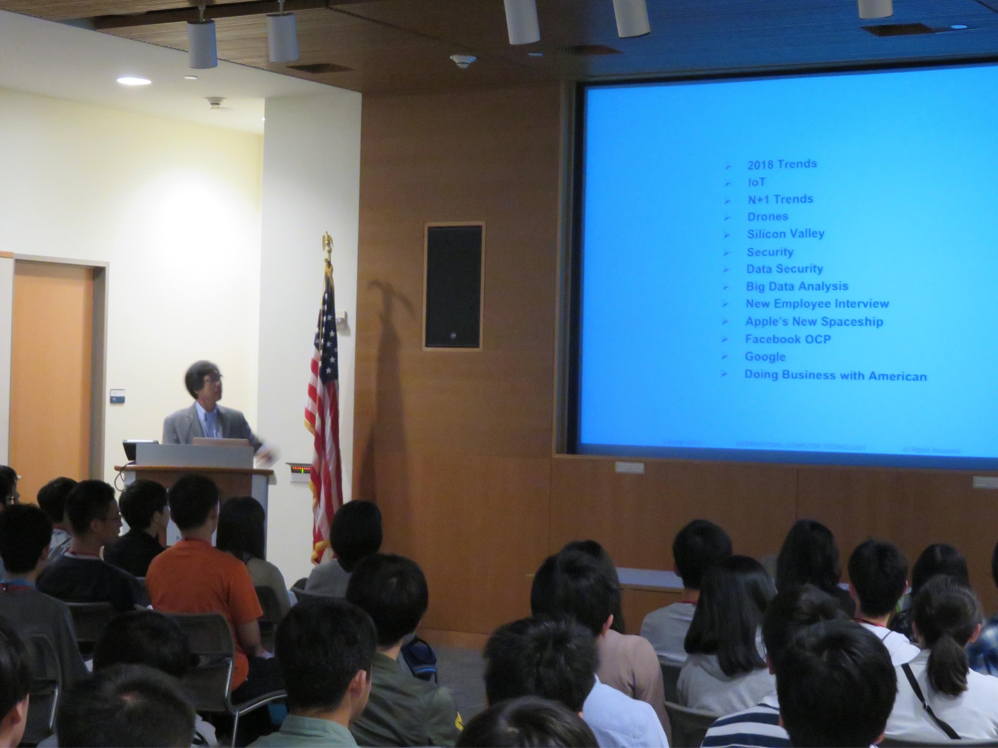 G11修学旅行 アメリカ西海岸 起業家の講演