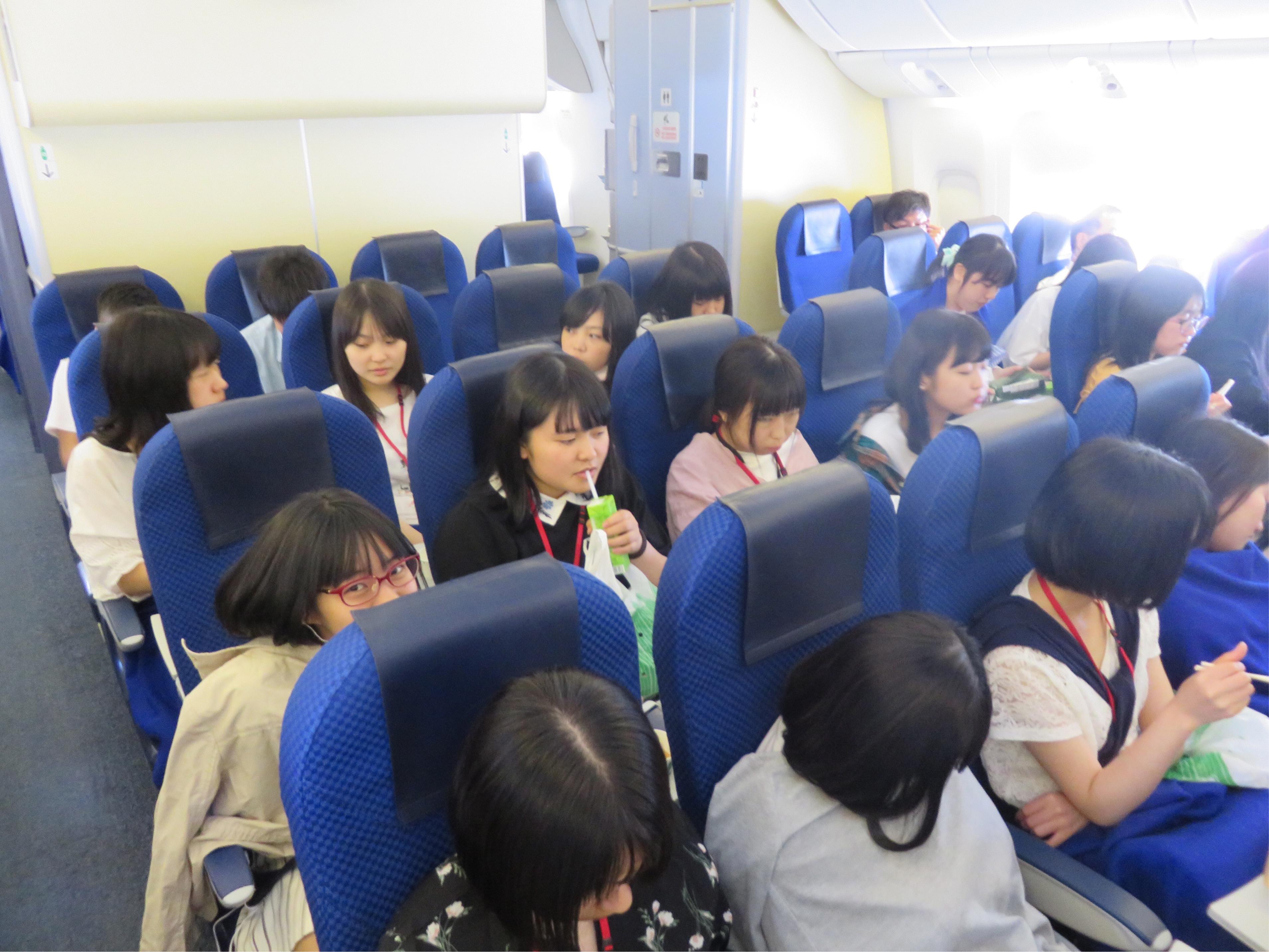 G11修学旅行 アメリカ西海岸 羽田までの空の旅の中